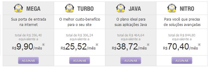 Comparando Planos de Hospedagem Linux
