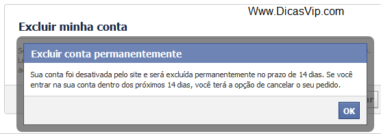 Excluir um Facebook permanentemente
