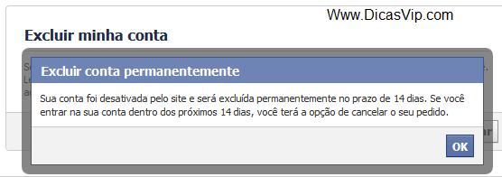Excluir um Facebook permanentemente