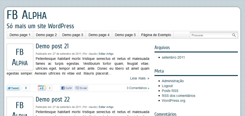 Tema FB Alpha - Tema Gratuito para WordPress