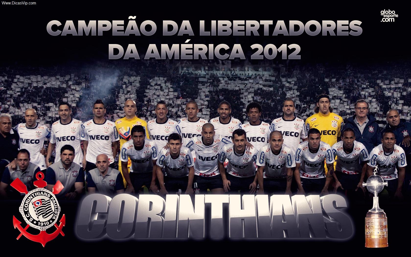 Wallpaper Corinthians campeão da taça libertadores 2012