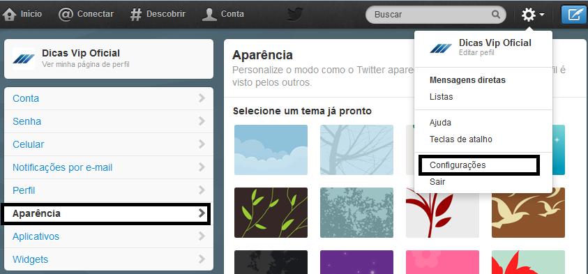 Twitter - Como ativar a capa no seu perfil