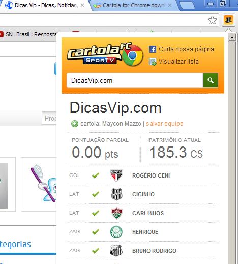 Download Cartola for Chrome
