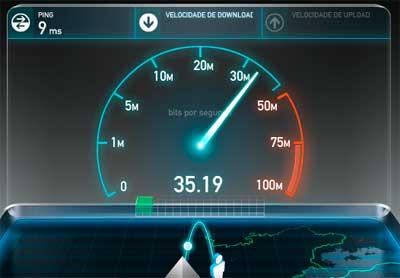 TESTE DE VELOCIDADE - COMO TESTAR A VELOCIDADE DE CONEXÃO DA INTERNET