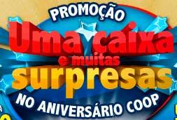 WWW.COOPEMCASA.COM.BR/ANIVERSARIO - PROMOÇÃO UMA CAIXA E MUITAS SURPRESAS NO ANIVERSÁRIO COOP