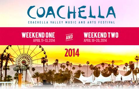 COACHELLA 2014, LINE UP, DATA