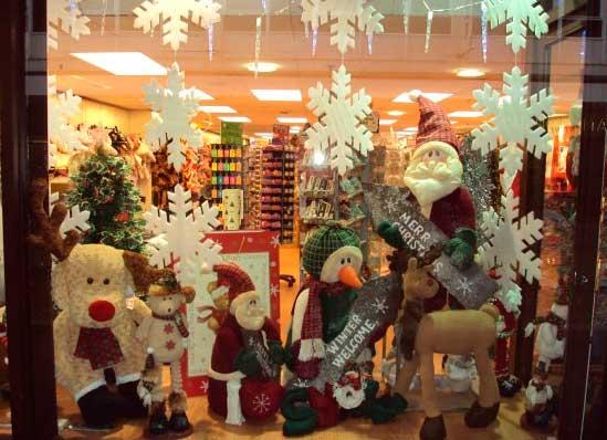FACHADAS DE LOJAS PARA O NATAL 2016 -> Decoração De Natal Vitrine Loja