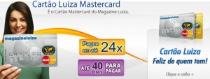 2º VIA CARTÃO DO CARTÃO MAGAZINE LUIZA